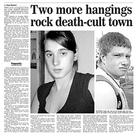 Two more hangings rock death-cult town