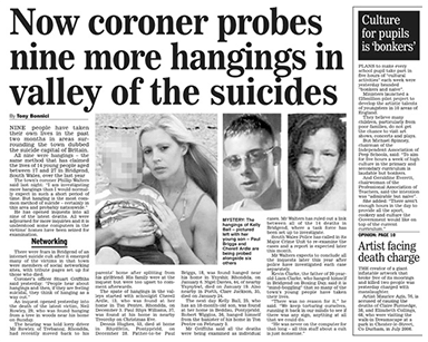 Now coroner probes nine more hangings in valley of the suicides